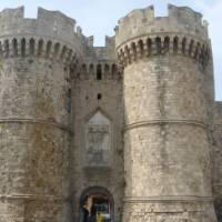 A closer look at the medieval castle in Rhodos Town