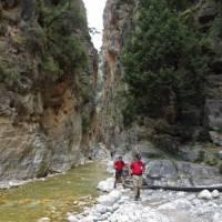 Walking out of Samaria Gorge, Crete