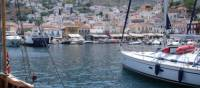 Sailing boats in the harbour of Hydra, Peloponnese Islands   Tom Panagos