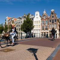 Amsterdam is a cycle friendly city