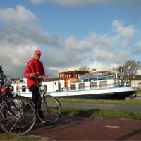 Getting ready to ride on a bike & barge trip in Holland | Richard Tulloch