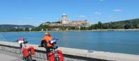 Resting by the Danube with the Esztergom Basilica in the distance | Lilly Donkers