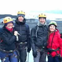 Family with teens walking on a glacier in Iceland | Kate Baker