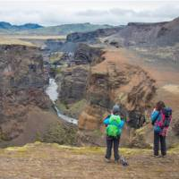 Traverse deep gorges and breathtaking valleys on the Laugavegur Trail in Iceland