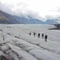 Glacier walking in Iceland