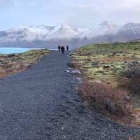 hikers returning from glacier walk on skaftafellsjökull | Kate Baker