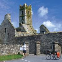 Castel ruins in the local fishing village of Kinsale