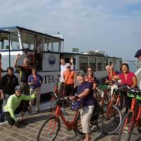Cyclists on the Veneto Bike & Boat trip