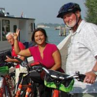 Cyclists on the Veneto Bike & Boat trip