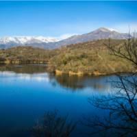 Mountain views are superb on the Via Francigena near Ivrea