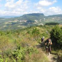Walking on the open landscapes of western Tuscany on the St Francis Way