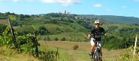 Cycling the Via Francigena near San Gimignano