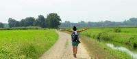 Hiking along the Via Francigena on the way to Pavia