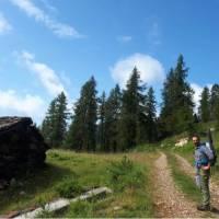 Soaking up the crisp alpine air on the Monte Rosa Walk