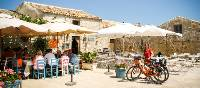 Authentic restaurants are featured as you cycle the quiet roads of Sicily