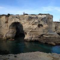 Rock formations on the Puglian coastline | Kate Baker