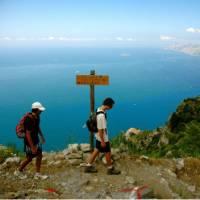 Walkers taking in the views on the Amalfi Coast | Sue Badyari