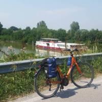 The barge awaits at the end of the cycling day | Dana Garofani