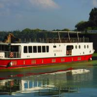 Ave Maria premium boat exterior docked in Mantova   Efti Poulos