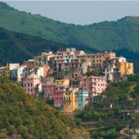 Looking back at Corniglia, while enjoying a ferry ride between the fishing villages   Rachel Imber