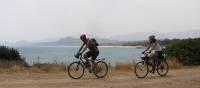 Cycling along quiet coastal roads in Sardinia