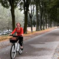 Cycling along the ramparts surrounding Lucca | Kate Baker