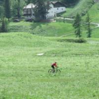 Cycling along the Via Francigena near the Aosta Valley