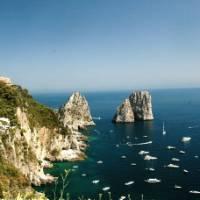 View of the Faraglioni rocks on the coastline of Capri, Italy   Sue Badyari