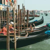 Gondolas in Venice   Rachel Imber