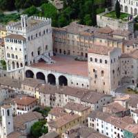The charming town of Gubbio, a highlight on the St Francis Way camino route