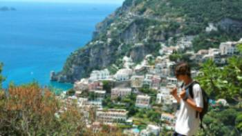 Hiking above Positano on the Amalfi coast, Italy | Sue Badyari