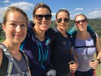All smiles from the self guided walkers of the Italian Camino |  <i>Allie Peden</i>