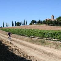Cycling through the beautiful Val d'Orcia region of Tuscany