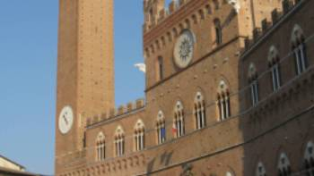 The imposing architecture of Siena
