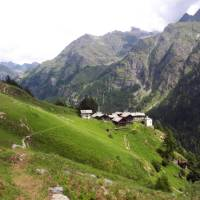 Mountain hamlet high up in the Lys Valley in Aosta