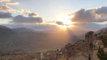 Sunset on the Magna Via Francigena in Sicily