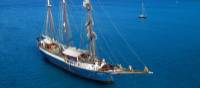 The impressive tallship, the Atlantis, your home for the week on our Tuscany Bike and Sail trip