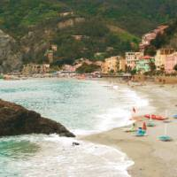 The beach at Monterosso al Mare, a great place for a relaxing swim after a days walk | Rachel Imber