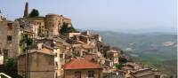 The hilltop town of Cammarata on the Magna Via Francigena in Sicily