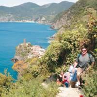 Walkers heading to Corniglia from Vernazza, Cinque Terre   Rachel Imber