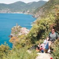 Walkers heading to Corniglia from Vernazza, Cinque Terre | Rachel Imber