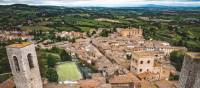 classic countryside view from the tower in San Gimignano | Tim Charody