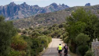 Cycling along the quiet roads of Sardinia