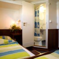 twin cabin with private bathroom aboard the tallship Atlantis