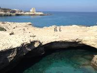 Half way along the coast between Lecce and Otranto, a magnificent rock pool connected to the sea |  <i>Kate Baker</i>