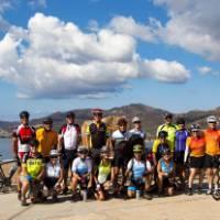 Cycling group on Sardinia's south coast