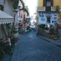 street scene in Lipari, Aeolian Islands, Sicily, Italy | Kate Baker