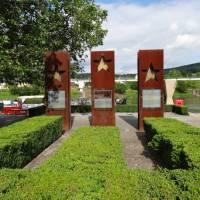 Schengen Agreement monument in Schengen, along the Moselle River