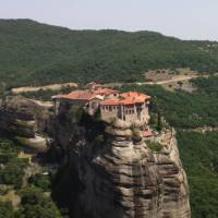 The extraordinary sight of Meteora's monastery topped pinnacles