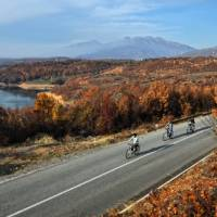 Cycling along Debar Lake, Macedonia